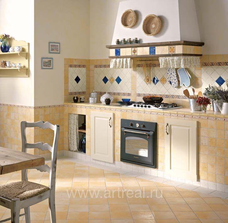 Дизайн пола кухни из плитки фото